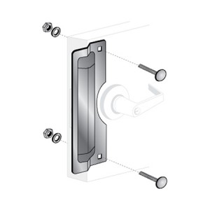 """ELP-220: 11"""" Center Rose Latch Protector"""