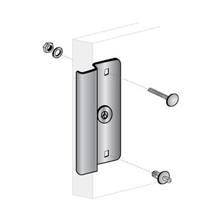 6 1 2 Quot Narrow Stile Door Latch Protector Pro Lok