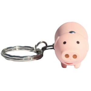Lighted Oinking Pig Key Ring
