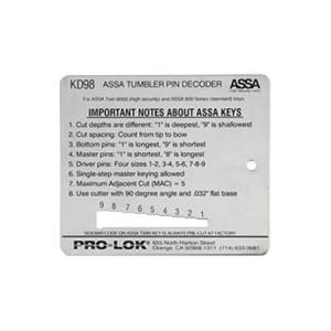 ASSA Key Decoder